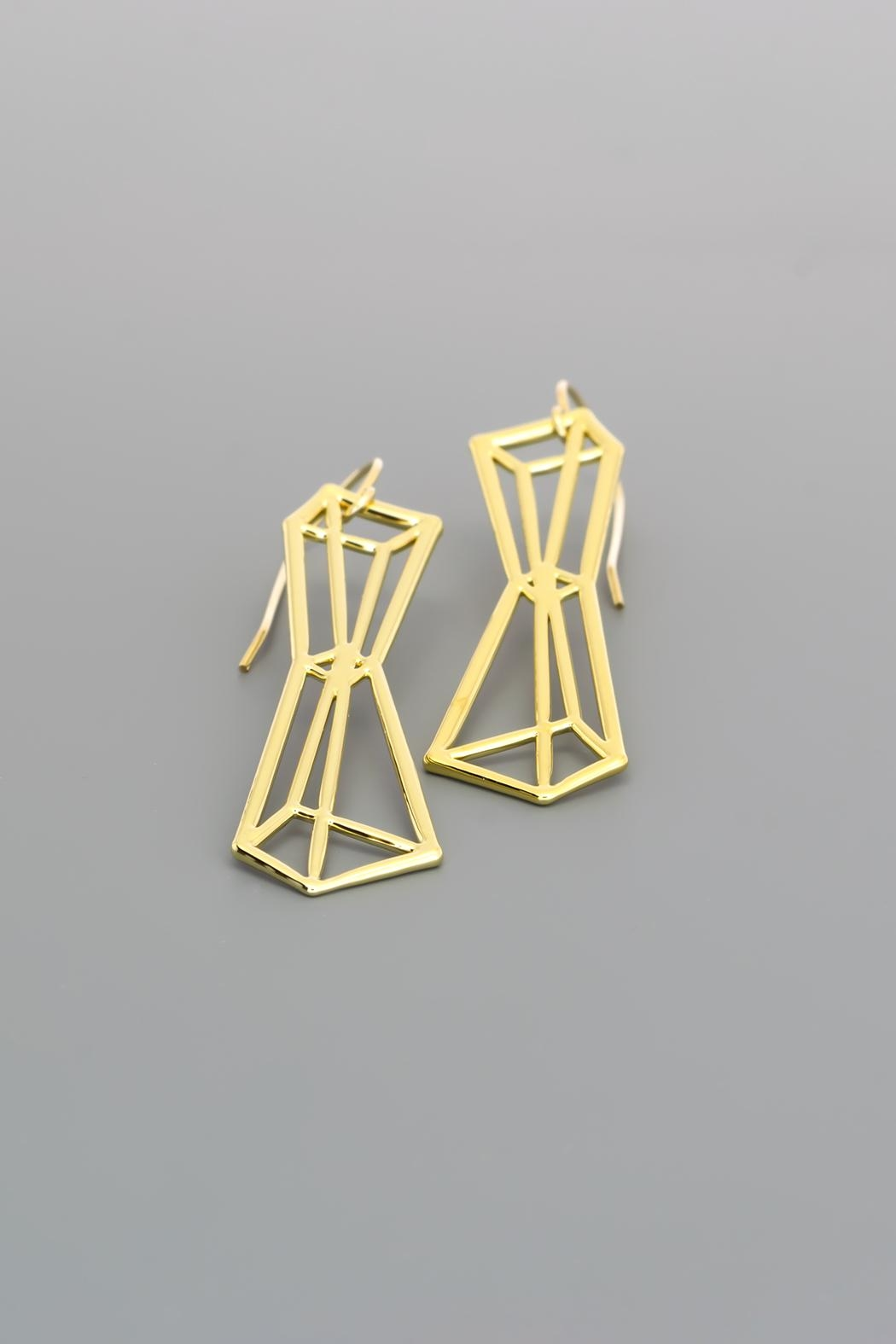 Dave + Esty Pyramids Outline Earrings - Front Full Image