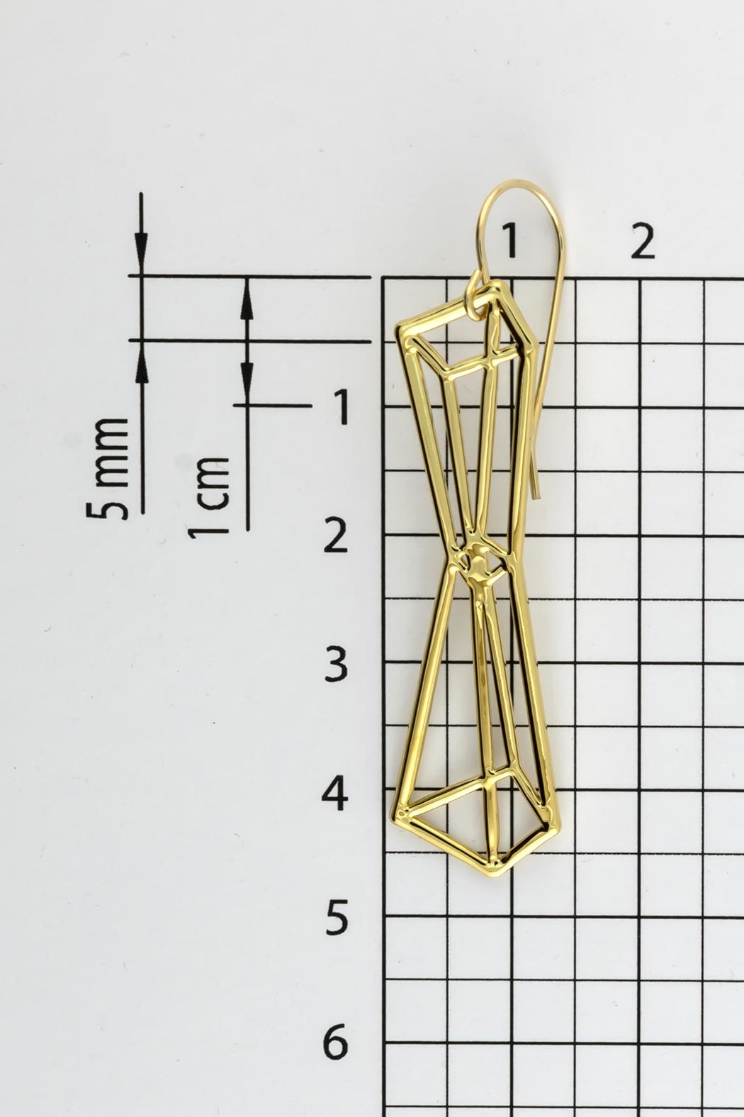 Dave + Esty Pyramids Outline Earrings - Back Cropped Image