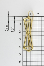 Dave + Esty Pyramids Outline Earrings - Back cropped