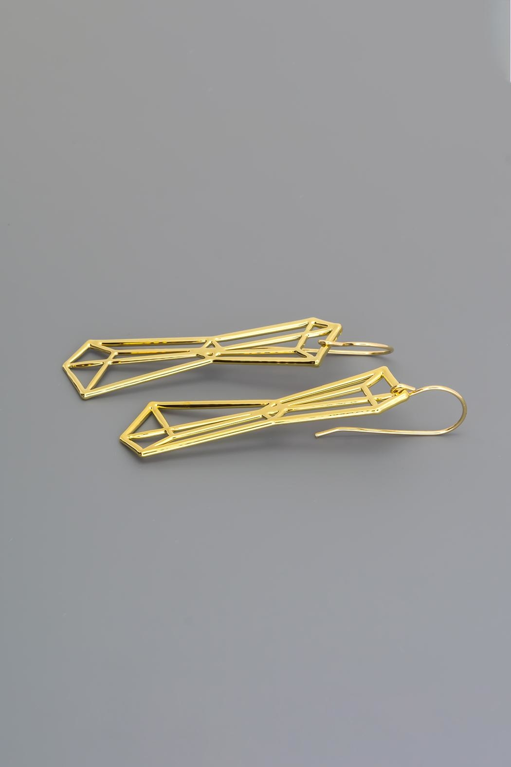 Dave + Esty Pyramids Outline Earrings - Front Cropped Image