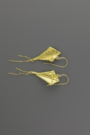 Dave + Esty Fabric Kite Earrings - Back cropped