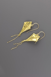 Dave + Esty Fabric Kite Earrings - Front cropped