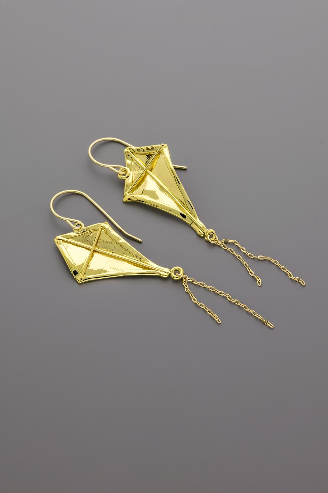 Dave + Esty Fabric Kite Earrings - Side Cropped Image