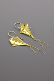 Dave + Esty Fabric Kite Earrings - Side cropped
