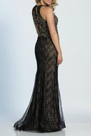 Dave and Johnny Embroidered Gown - Front full body