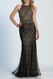 Dave and Johnny Embroidered Gown - Front cropped