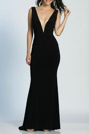 Dave and Johnny Deep V Gown - Front cropped