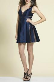 Dave and Johnny Pleated Mini Dress - Front cropped