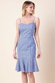 Davi & Dani Gingham Midi Dress - Product Mini Image