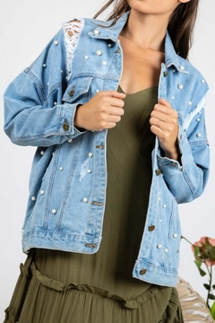 Davi & Dani Pearl Denim Jacket - Product List Image