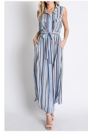 Davi & Dani Strip Button Down Maxi - Product Mini Image