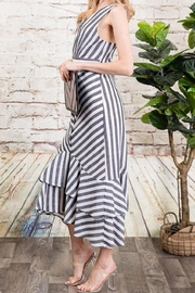 Davi & Dani Striped Button Down Midi Dress - Other