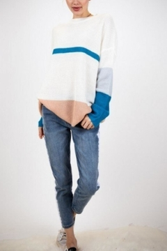 Davi & Dani Striped Sweater - Product List Image