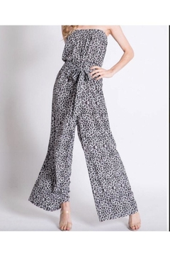 Davi & Dani Wild Leopard Animal Tube Jumpsuit - Alternate List Image