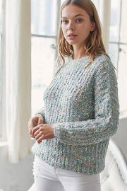 Mint Cloud Boutique Super Soft And Cozy Multi Color Popcorn Knit Pullover Sweater Top - Product Mini Image