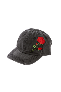 Shoptiques Product: Black Distressed Cap