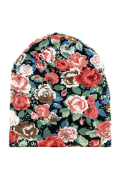 David & Young Knit Floral Beanie - Alternate List Image