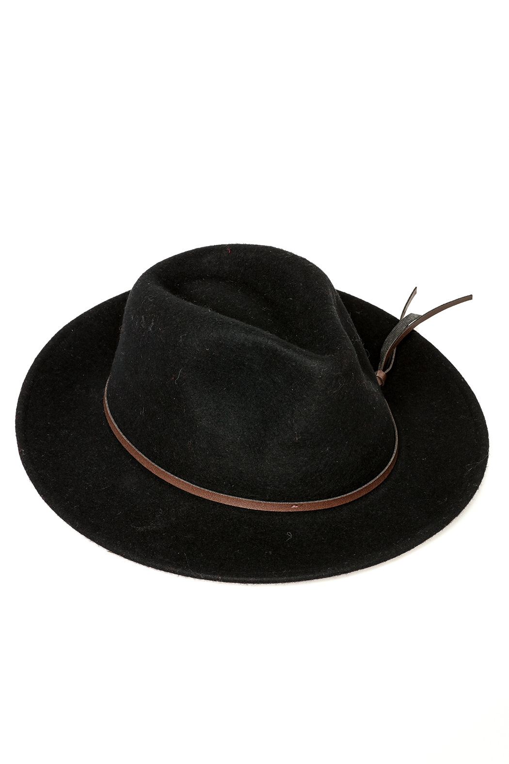 david and young Black Fedora Hat - Main Image