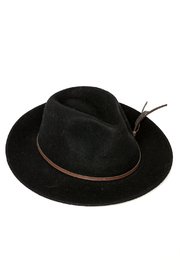 david and young Black Fedora Hat - Front cropped