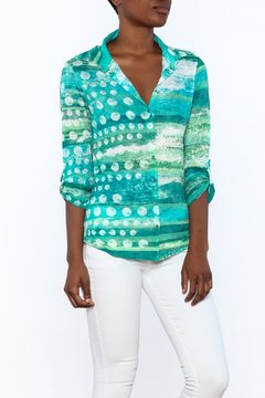 David Cline Marble Button Down Blouse - Product List Image