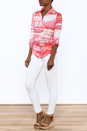 David Cline Marble Button Down Blouse - Front full body