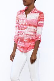 David Cline Marble Button Down Blouse - Front cropped