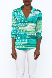 David Cline Marble Button Down Blouse - Side cropped