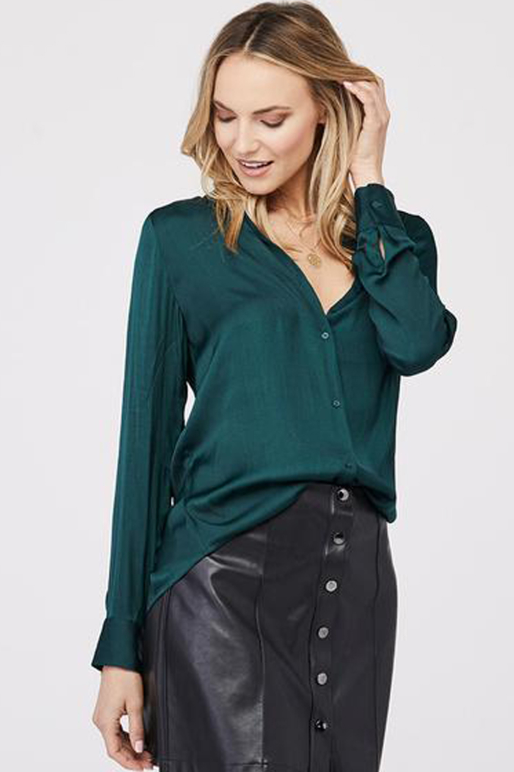 David Lerner DAVID LERNER BUTTON DOWN BLOUSE - Main Image