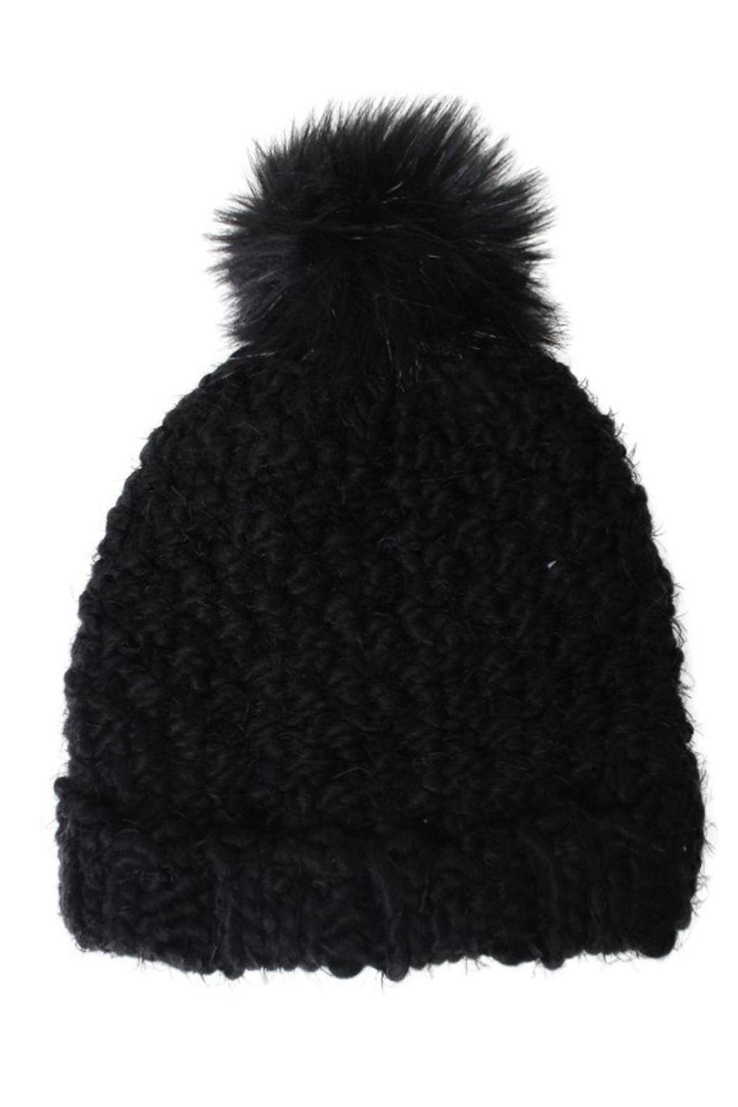 David & Young Feather Yarn Hat - Front Cropped Image