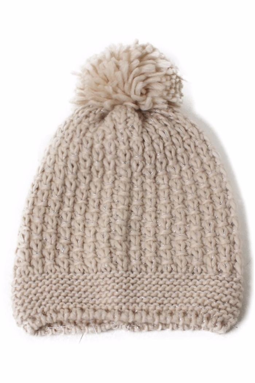 David & Young Metallic Beanie - Front Full Image