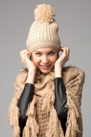 David & Young Metallic Beanie - Front cropped