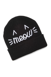 david and young Meow Embroidered Beanie - Front cropped