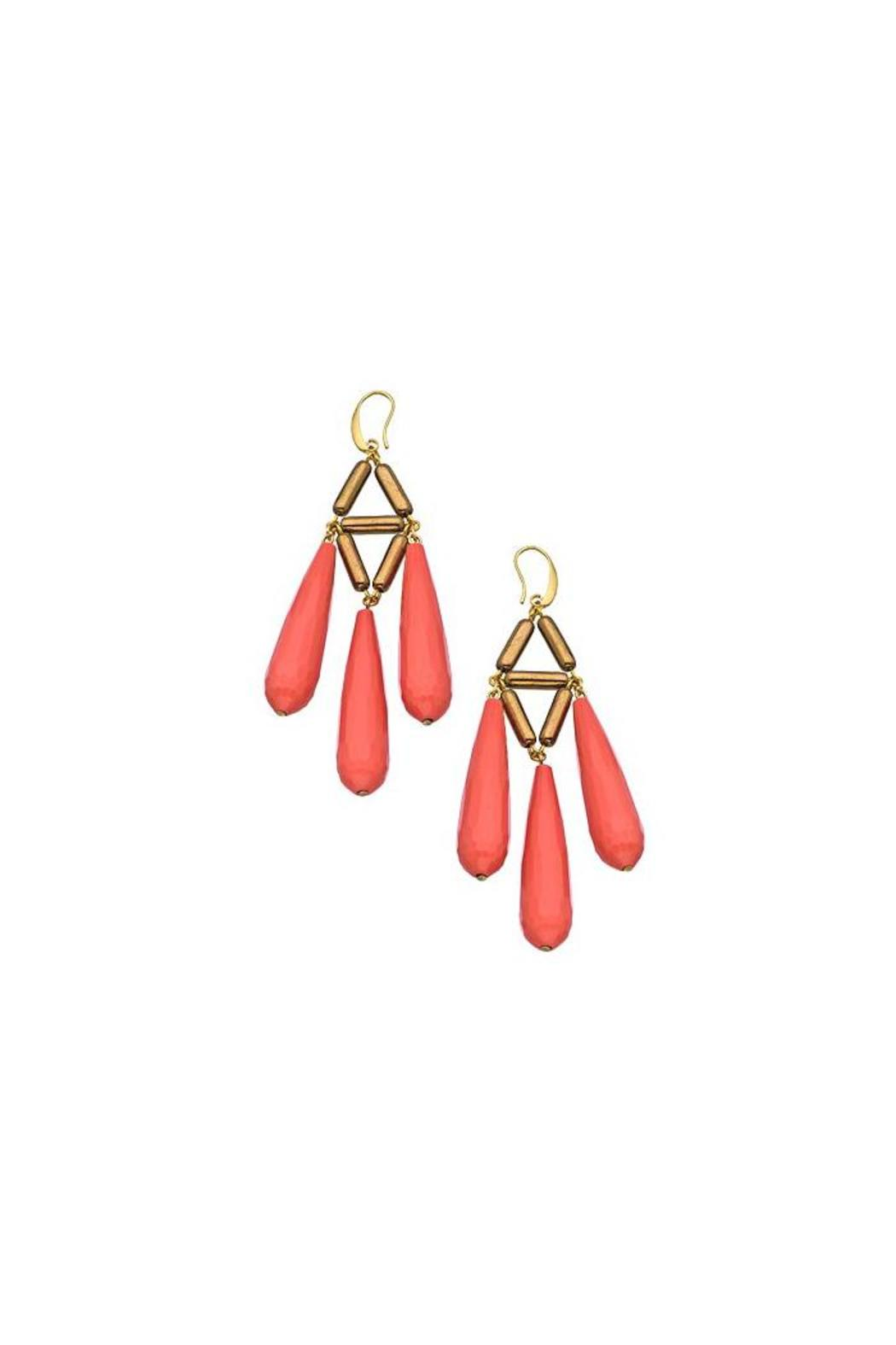 David aubrey coral chandelier earrings from brooklyn by lee lees david aubrey coral chandelier earrings front cropped image aloadofball Gallery