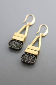 Shoptiques Product: Plated Brass Earring