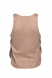 David Lerner Nude Overlap Tank Top - Front full body