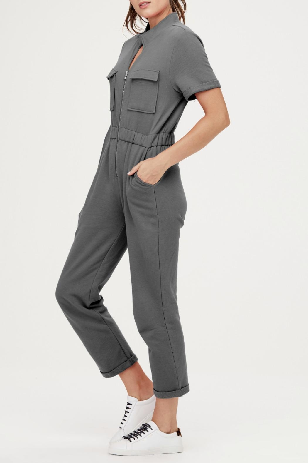 David Lerner New York Cassie Cargo Jumpsuit - Front Full Image