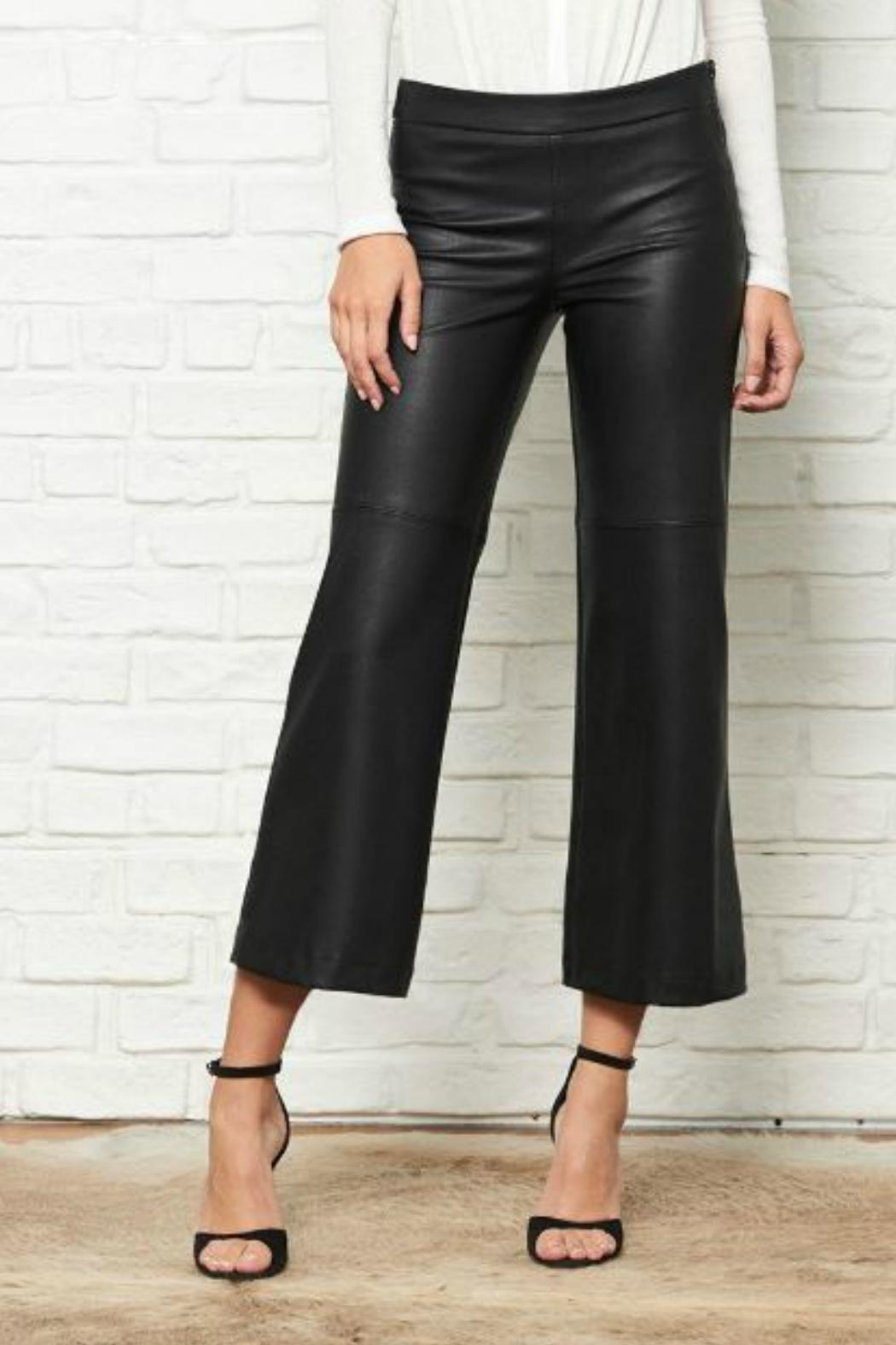 2880ed1cd9fbd1 David Lerner New York Cropped Faux-Leather Pants from New Jersey by ...