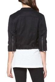 David Lerner New York Micro Suede Jacket - Front full body