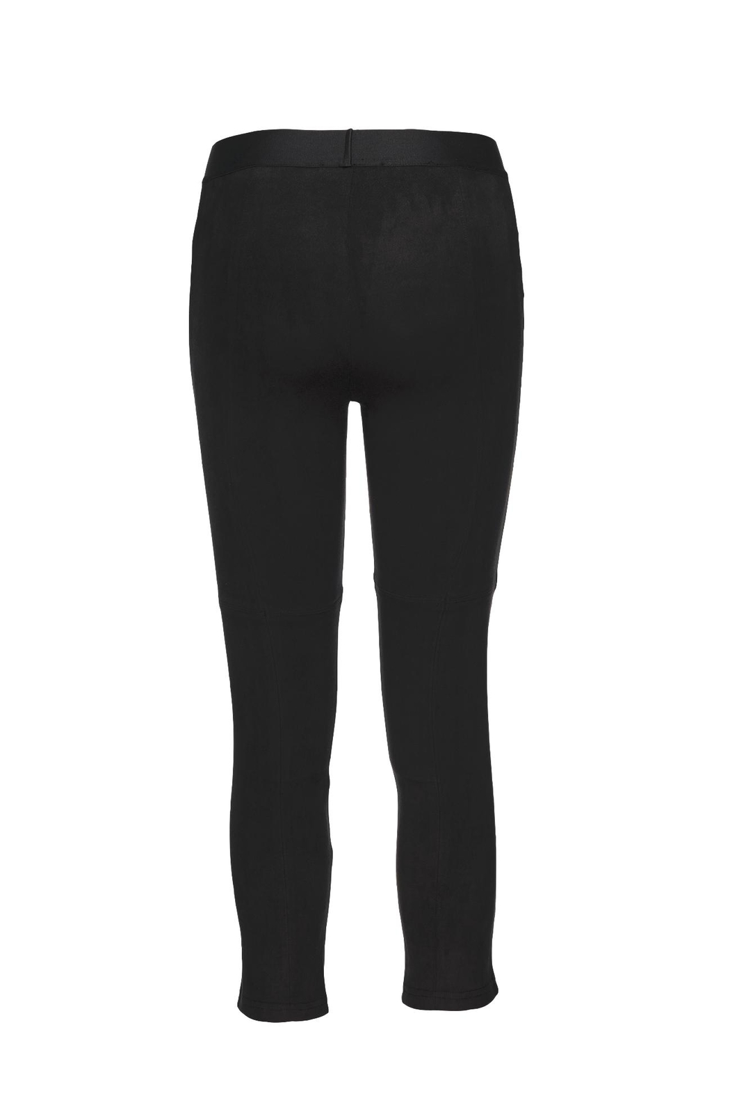 David Lerner New York Microsuede Seamed Legging - Front Full Image