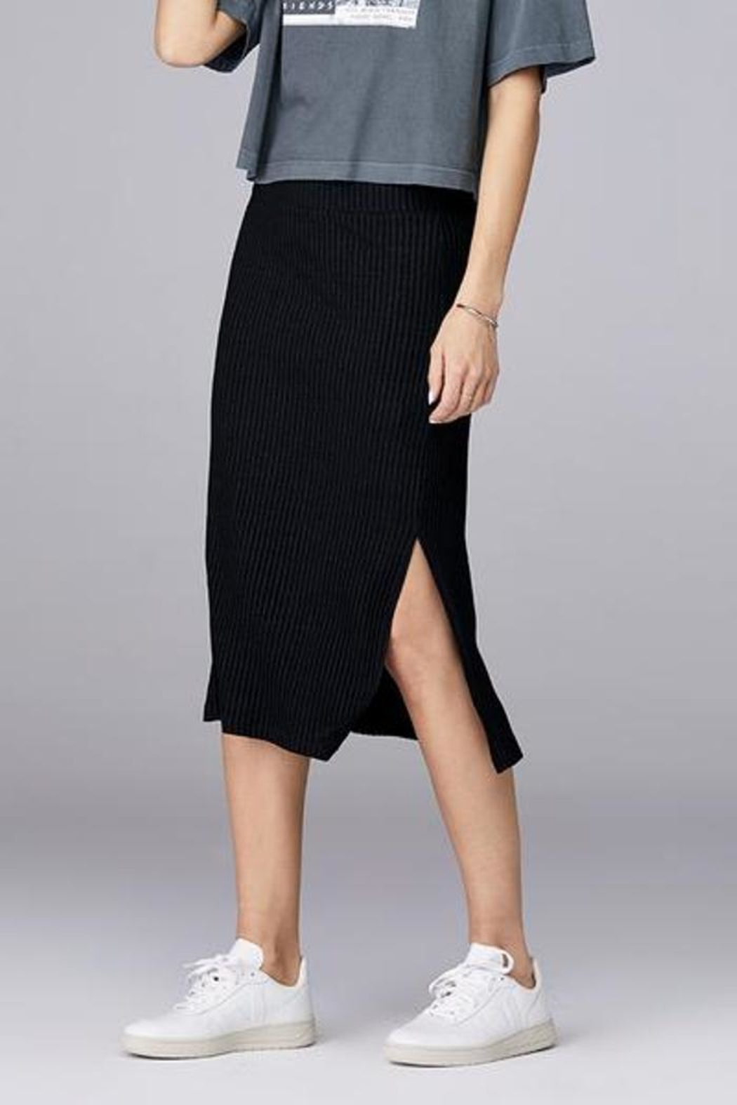 David Lerner New York Ribbed Skirt - Main Image