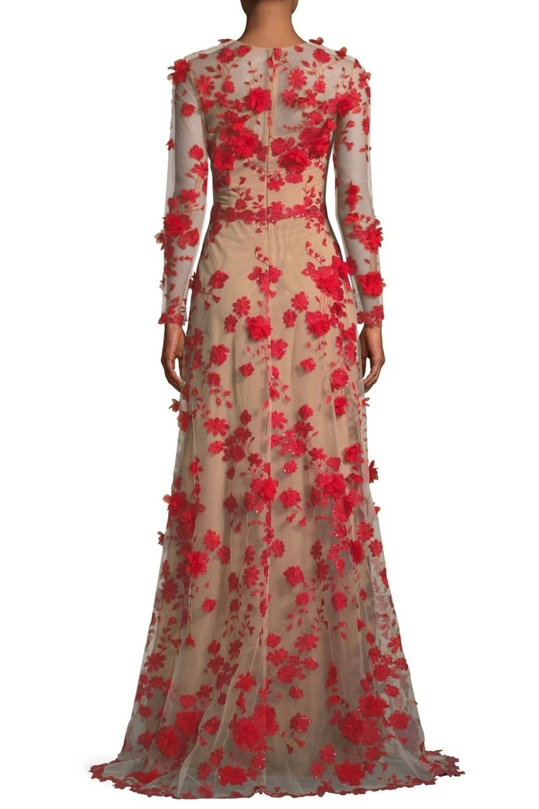 David Meister Floral Evening Gown - Front Full Image