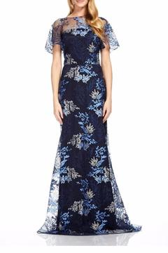 David Meister Floral Overlay Gown - Product List Image