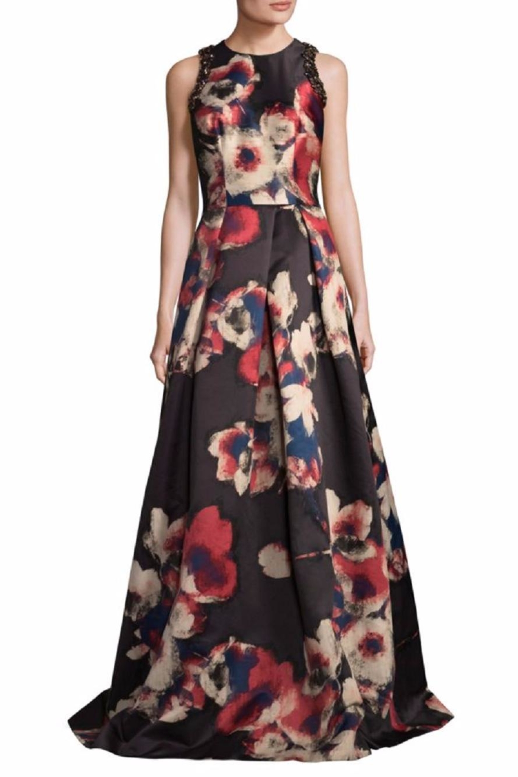 David Meister Floral Sleeveless Gown - Main Image