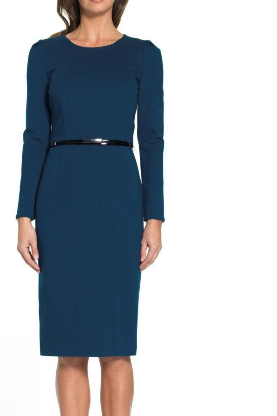 David Meister Long Sleeve Dress - Front Cropped Image