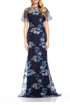 David Meister Short Sleeve Gown - Product List Image