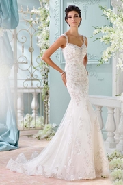 David Tutera for Mon Cheri Backless Wedding Gown - Front cropped