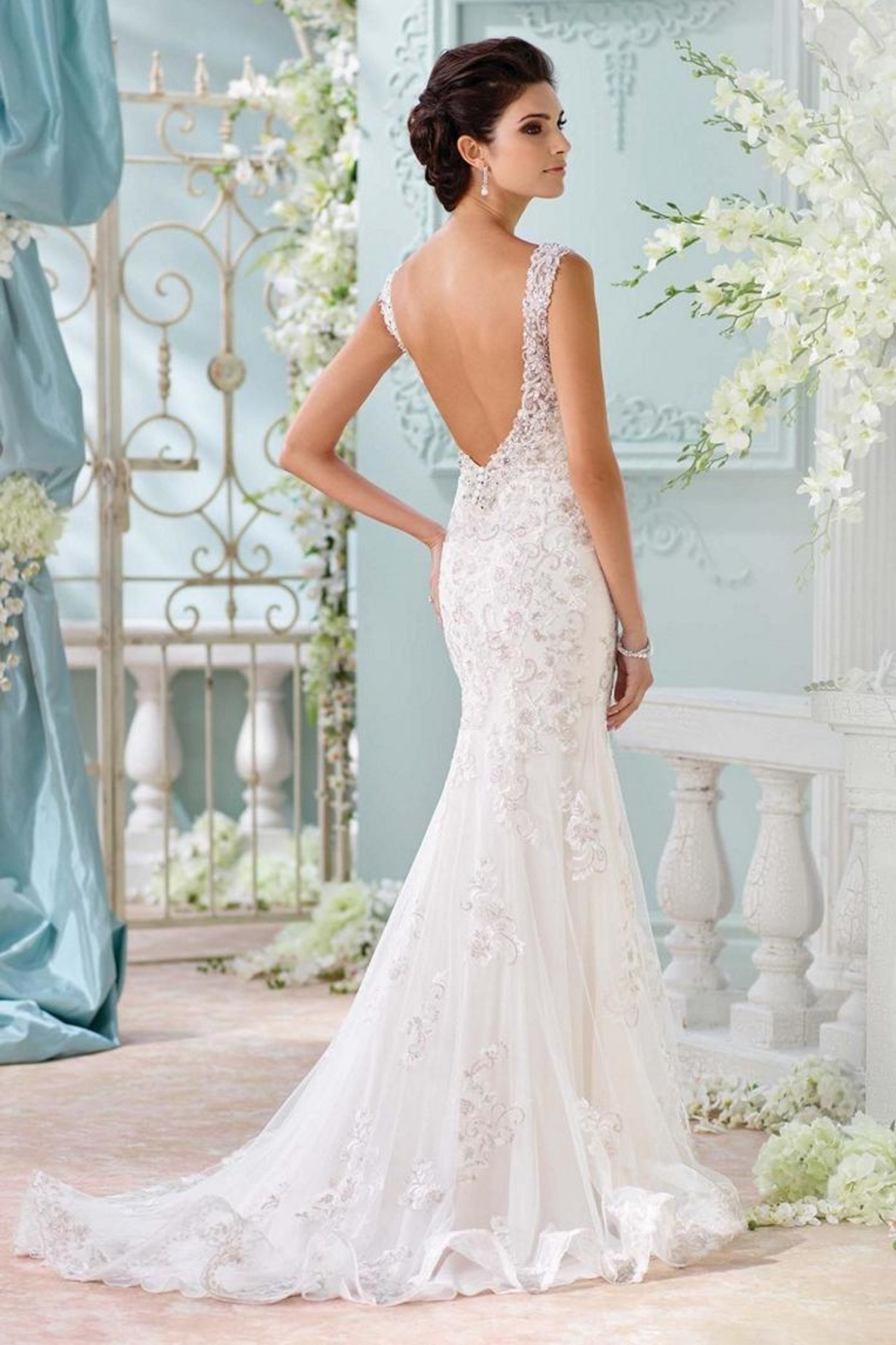 David Tutera For Mon Cheri Backless Wedding Gown From Ohio By