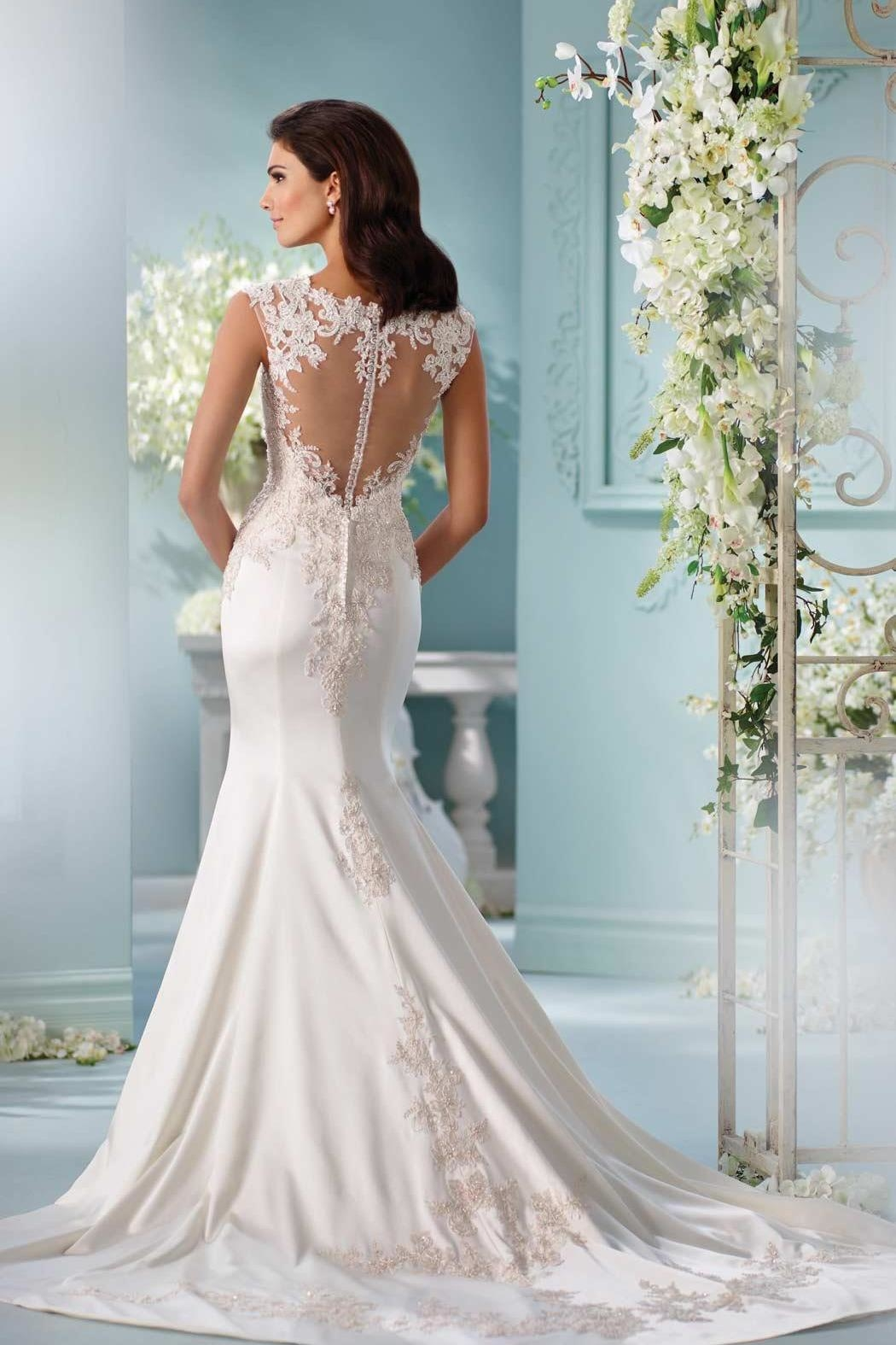 David Tutera for Mon Cheri Fit And Flare - Front Full Image