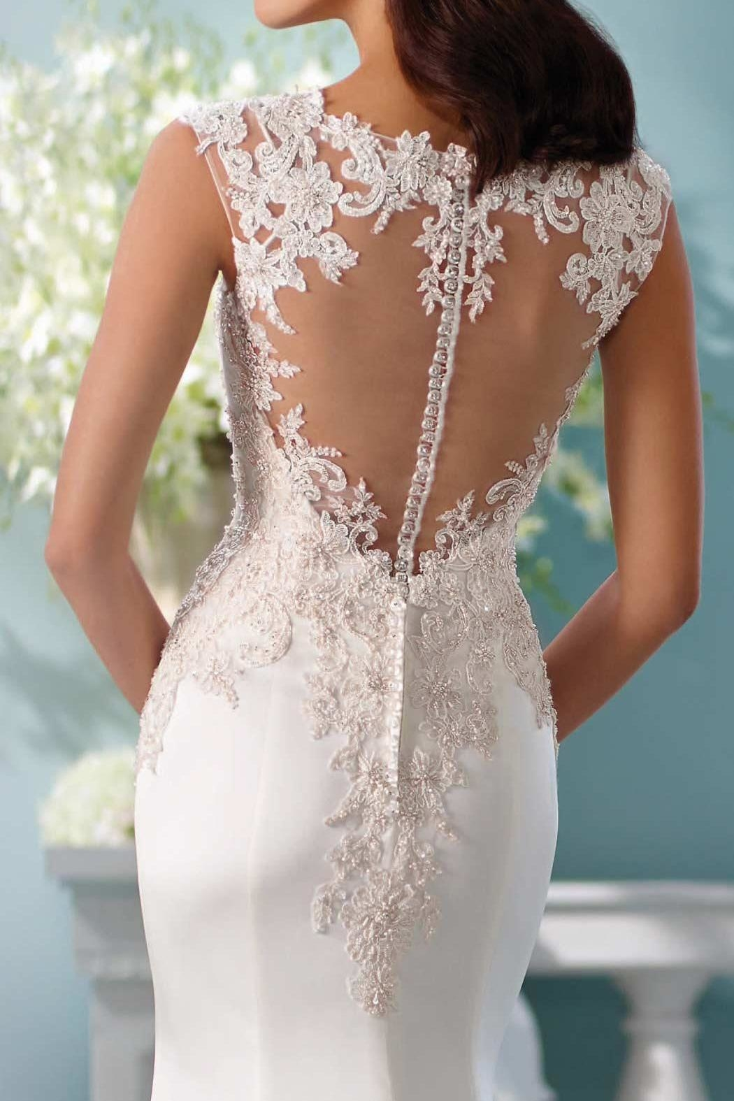 David Tutera for Mon Cheri Fit And Flare - Back Cropped Image