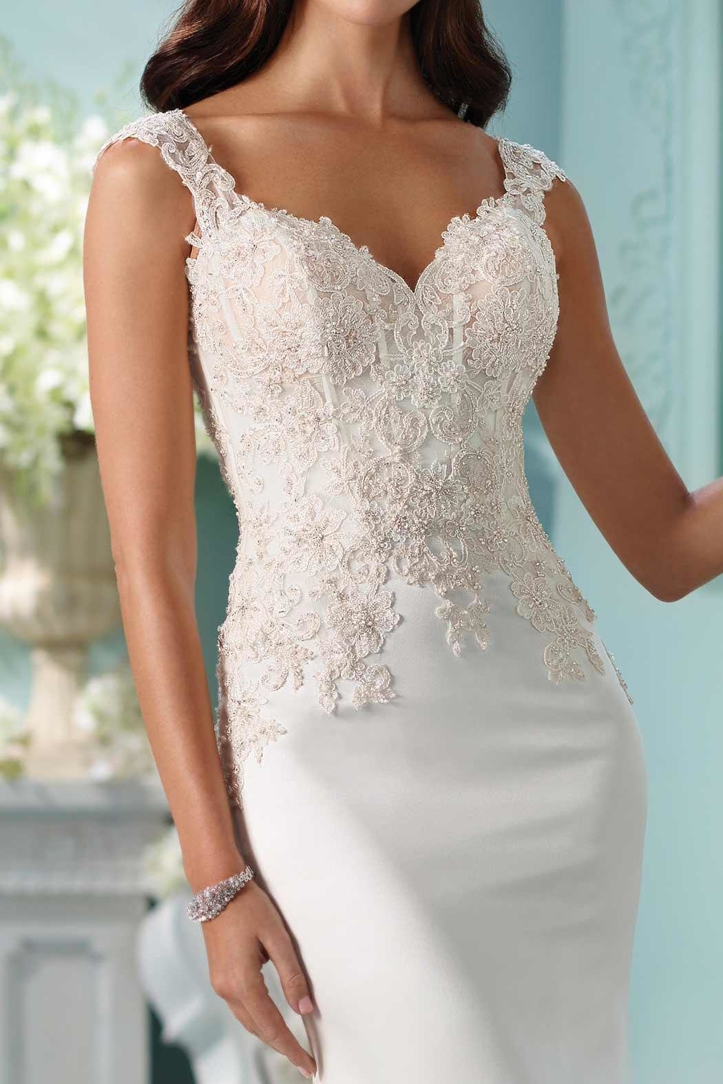 David Tutera for Mon Cheri Fit And Flare - Side Cropped Image